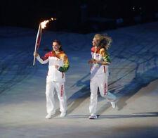 Elena Isinbayeva & Maria Sharapova UNSIGNED photograph - Olympic torch - M5623