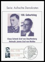 BUND MK 2007 STAUFFENBERG MOLTKE PRIVATE !! MAXIMUMKARTE MAXIMUM CARD MC CM by63