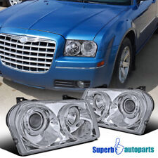 For 2005-2010 Chrysler 300 Projector Headlights Lamps Pair Replacement