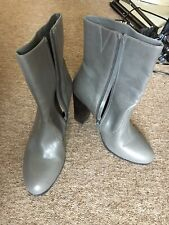 F&F Grey High Heel Ankle Boots UK7/ 41 EUR