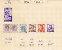 Deceased Estate - Hong Kong - 1948-60 Qty 6 Stamps (Value > $15)