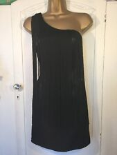 Stunning Caprice Black Fringe dress 8 Christmas Party Night Out Occasion Cruise