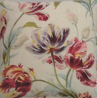 A 16 Inch Cushion Cover In Laura Ashley Gosford Cranberry Fabric