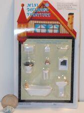 Dollhouse Miniature Bathroom Set 1:48 Quarter Inch scale 1/4  K91 Dollys Gallery