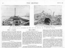 1894-antica stampa India Baia del Bengala British NAVE CICLONE insegnò (17)