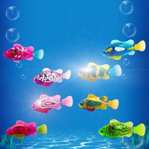 Swim Electronic Fish Toy Kid Bathing Tank Decorating Fish Random Color 1pc