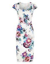 Monsoon Floral Summer Cotton Dress UK 14