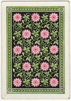 Playing Cards Single Swap Card Antique HUNTS Square Corner GEOMETRIC ART FLOWERS