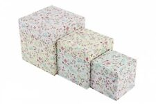 WILD & FREE STORAGE BOXES FLOWERS SHABBY CHIC CARD