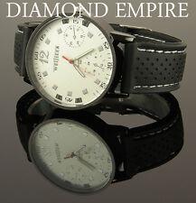 Herrenuhr Silicon Uhr Sportuhr Armbanduhr Schwarz Weiß Rot Geschenk U1717