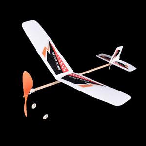 1pc plastic foam elastic rubber powered flying plane kit aircraft model QA