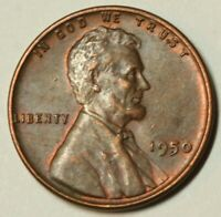 1950 Lincoln Wheat Cent Almost Uncirculated AU US Coin