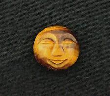 ONE 14mm Round Golden Tigereye Carved Face Gemstone Gem Stone Cab Cabochon 6378