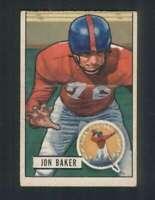 1951 Bowman #57 Jon Baker VG/VGEX NY Giants 100461