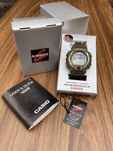 RARE Casio G-Shock DW-8600 MS-8T Fisherman Box Tag Papers Titanium Japan 1629