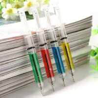 4 Pcs/set Injection Syringe Shape Ball Point Pen Doctor Nurse Kids Gift craft *