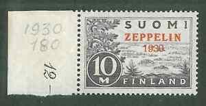 Finland 1930 C1 Zeppelin overprint XF MNH post office fresh great stamp! |