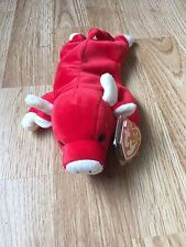Original Beanie Baby Snort with tag Error Rare