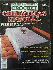 Vintage 1983 Women's Household CROCHET Magazine CHRISTMAS SPECIAL 39 PATTERNS