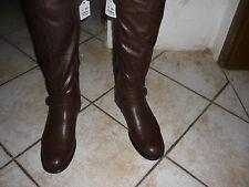 Schöne  Knie - Damenstiefel, Größe 42 in Braun, Blockabsatz, ca 3,6 cm