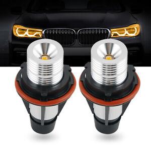 Amber LED Angel Eye Marker Light Bulbs for BMW E65 E66 745i 750Li 760i 2002-2008