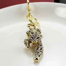 leopard Keychain Crystal Keyring Key Ring Chain Bag Charm Pendant Christmas gift