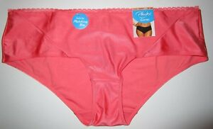 PLAYTEX~3XL 10~PSCHHL~Coral Punch Love My Curves Smooth Cheeky Hipster Panty