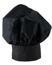 Black Adult Adjustable Baker Kitchen Cooking Chef Cap Mushroom poplin chef hats