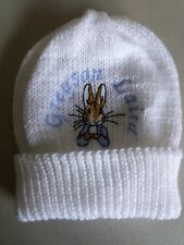 Personalised Peter Rabbit Knitted Baby/Toddler hat (New)
