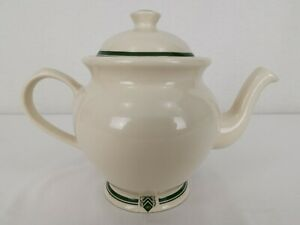 The 1869 Victorian Pottery | Teapot 2 Pt | Forest Green Cream | Made in England
