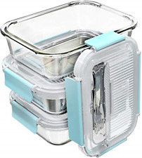 Large Glass Food Storage Containers with Locking Lids Box Glass Lunch Meal Prep