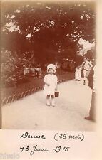 BJ068 Carte Photo vintage card RPPC Enfant mode fashion bébé parc jardin