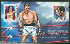 GUINEA BISSAU 2014 50th ANNIVERSARY OF MUHAMMAD ALI  AS WORLD CHAMP S/S  MINT NH
