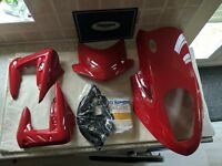 Triumph street triple fairing body kit fly screen belly panel headlight cowl new