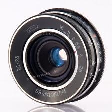 Industar-69 28mm f/2.8 wide Objektive lens M39 fits Chaika 35mm film camera