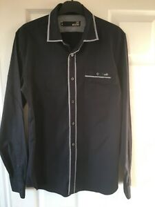 Moschino Mens Navy Long Sleeve Shirt Size Medium