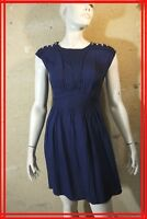 KOOKAI Taille 34 Superbe robe bleue en viscose blue dress kleid