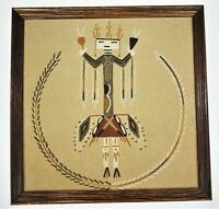Relate to Water Raised Sand Picture Navajo Native Tribal Art Sheep Springs NM