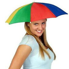 Multicolor Portable Umbrella Hat Cap Sun Rain Fishing Camping KL