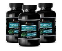 Klamath ORGANIC BLUE GREEN ALGAE Powder 500mg - Spirulina Chlorella - 3 Bottles