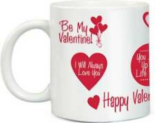 Ceramic Serve Ware Red Color Mug 350 Ml Diwali Birthday Gift Patch Pack Of One