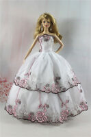 Fashion Handmade Princess Dress Wedding Clothes Gown for Barbie Doll Gifts a31