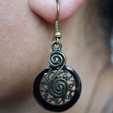 Pair of Bronze Black Brown Earrings Studs Hook Drop Dangle Womens Kids Jewellery