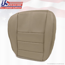 2009 Ford F250 Lariat Passenger Bottom Replacement Leather Cover Stone Gray 4S