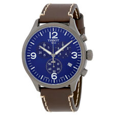 Tissot T-Sport Chronograph XL Blue Dial Mens Leather Watch T116.617.36.047.00