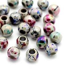 magnifique lot de 50 Perles tachetée Acrylique Couleur 8mm Dia...