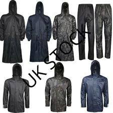 Adults Waterproof Jacket Long Coat & Trousers Packaway Rain Womens Mens Ladies