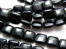 "15.5"" Strand BLACK ONYX  12mm Square Beads"