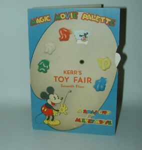Mickey Mouse Magic Movie Palette Christmas Card Kerr's Toy Fair WD Ent Premium