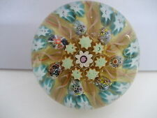 VINTAGE  VASART  GLASS MILLEFIORI  PAPERWEIGHT WITH SEVERAL VERY  COMPLEX CANES